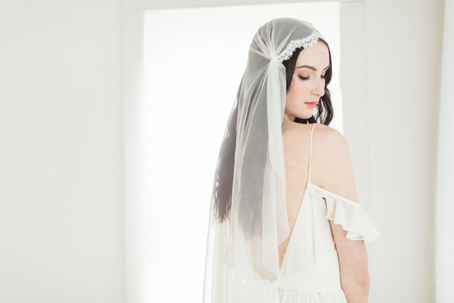 Art Deco Juliet Cap Bridal Veil from Mignonne Handmade