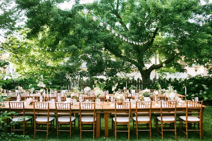 An Outdoor Wedding Breakfast
