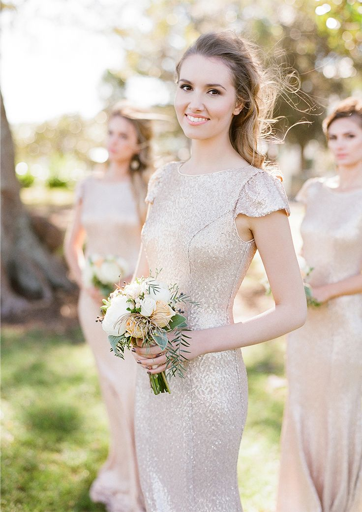 5 Stunning Modern Vintage Summer Bridesmaids Looks - Sparkly for Summer