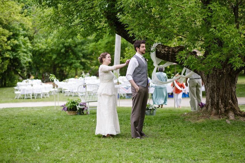 First look - A Vintage Garden Wedding
