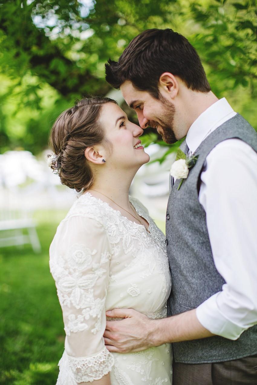 Vintage bride & groom - A Vintage Garden Wedding
