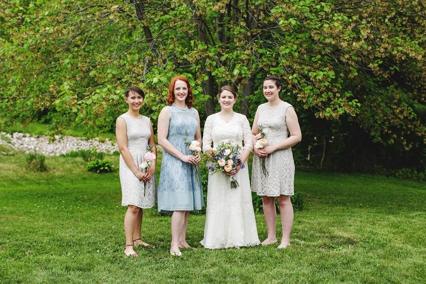 Modern vintage bridesmaids - A Vintage Garden Wedding