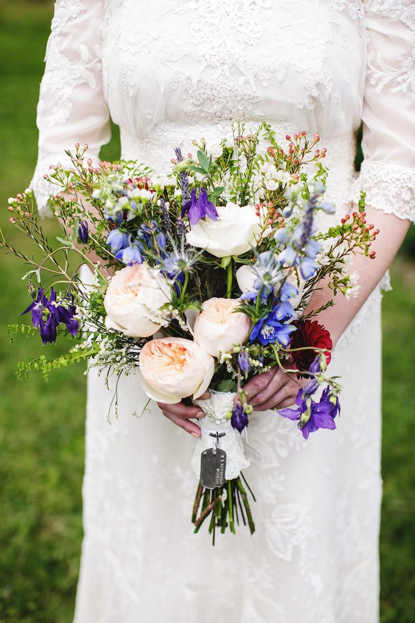 Just picked bridal bouquet - A Vintage Garden Wedding