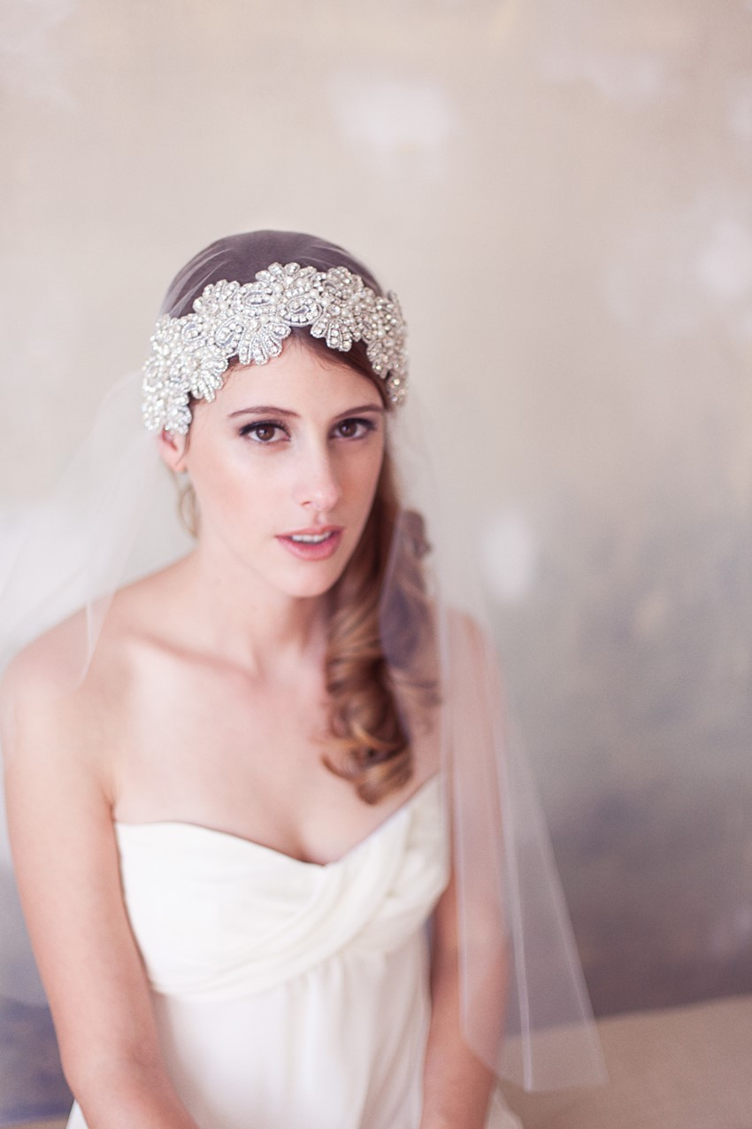 a collection of exquisite vintage bridal hair accessories : chic