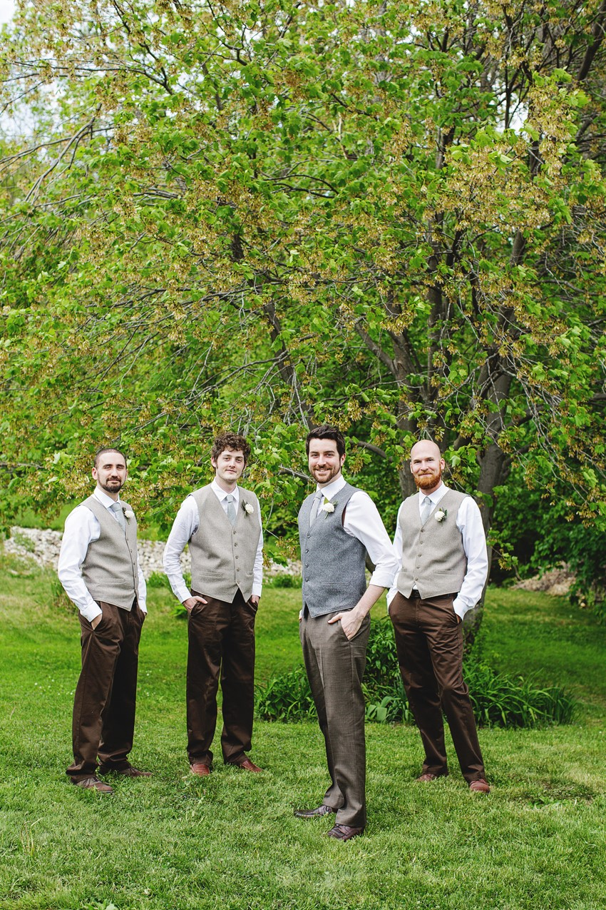 Groom & Groomsmen - A Vintage Garden Wedding