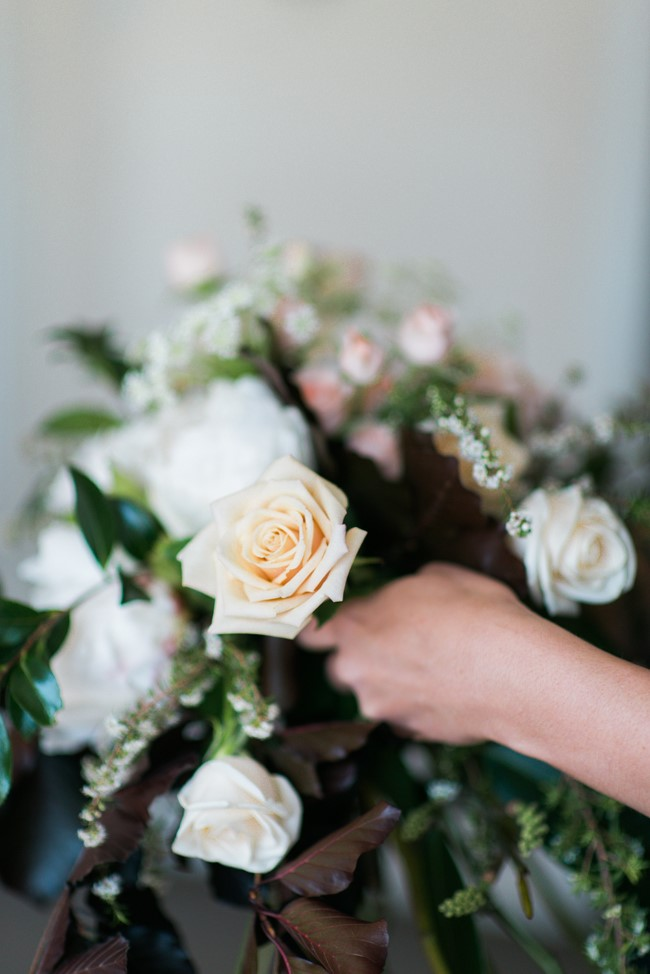 A Beautiful Vintage-Inspired Bridal Bouquet of Roses & Peonies
