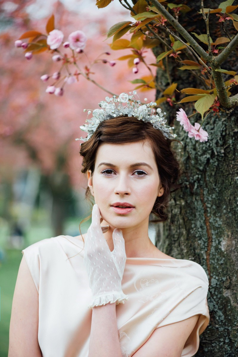 A Dreamy Blossom Filled Bridal Shoot with a Touch of Art Deco Elegance