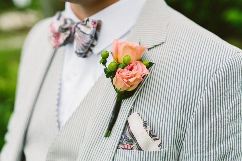 Vintage Groom - A Romantic Vintage Wedding With Pops of Pink