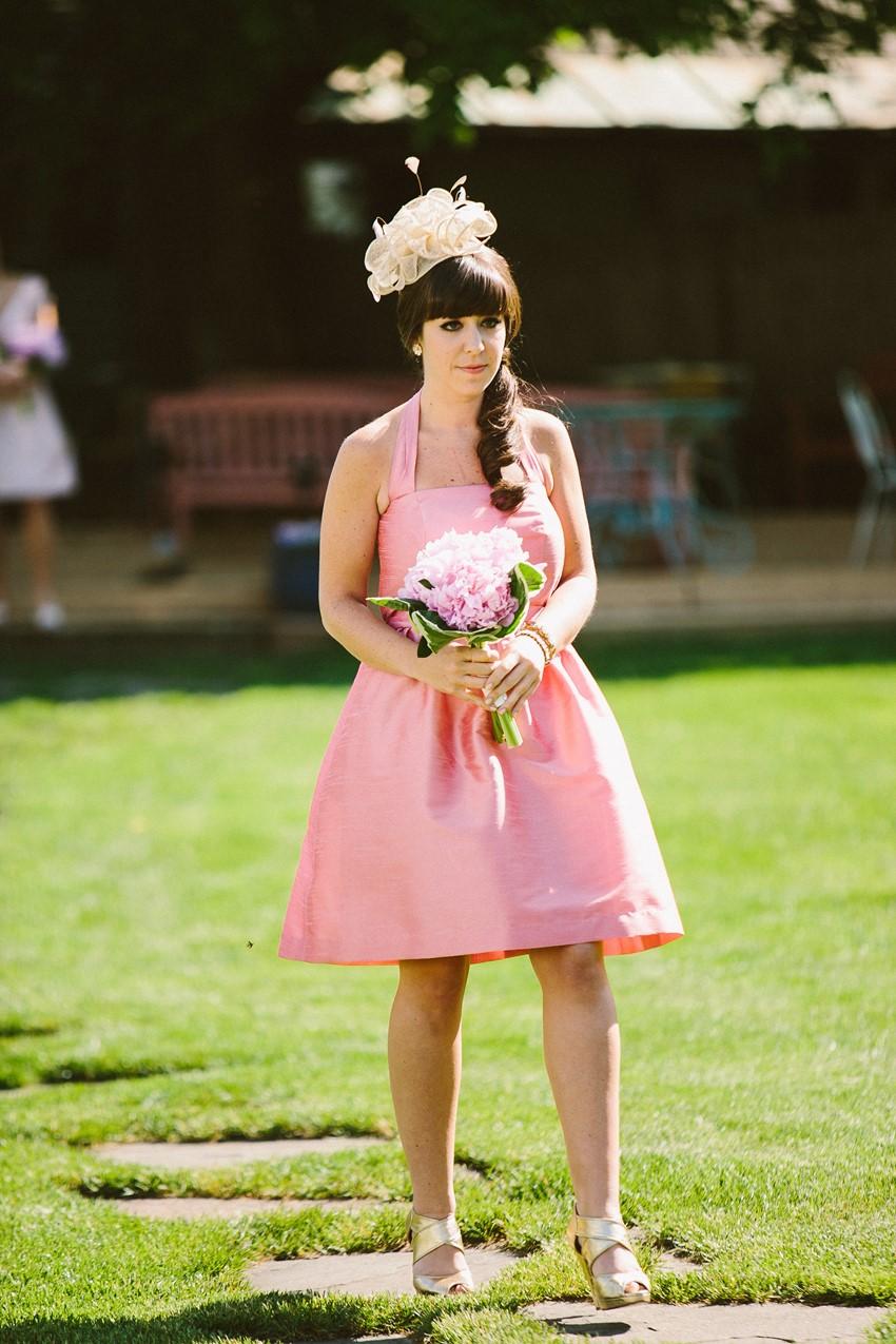 Vintage Bridesmaid - A Romantic Vintage Wedding With Pops of Pink