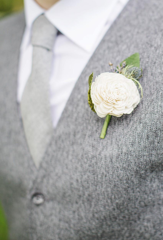 Boutonniere - A Vintage Garden Wedding