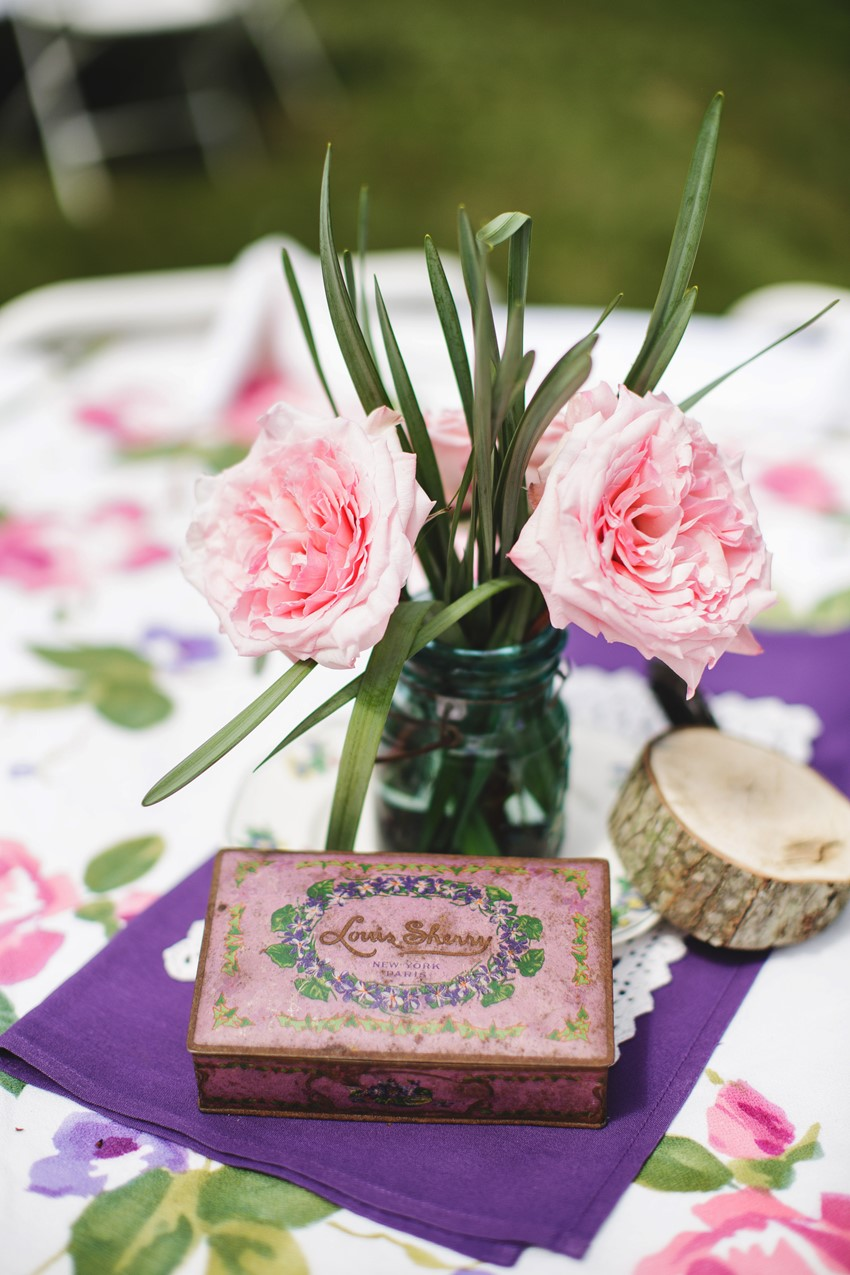 DIY centrepiece - A Vintage Garden Wedding