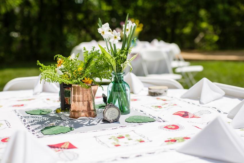 DIY centrepieces - A Vintage Garden Wedding