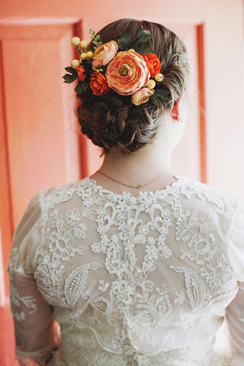 Vintage bridal updo - A Vintage Garden Wedding