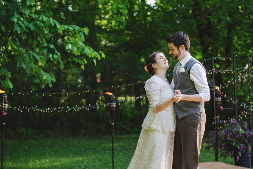 First dance - A Vintage Garden Wedding