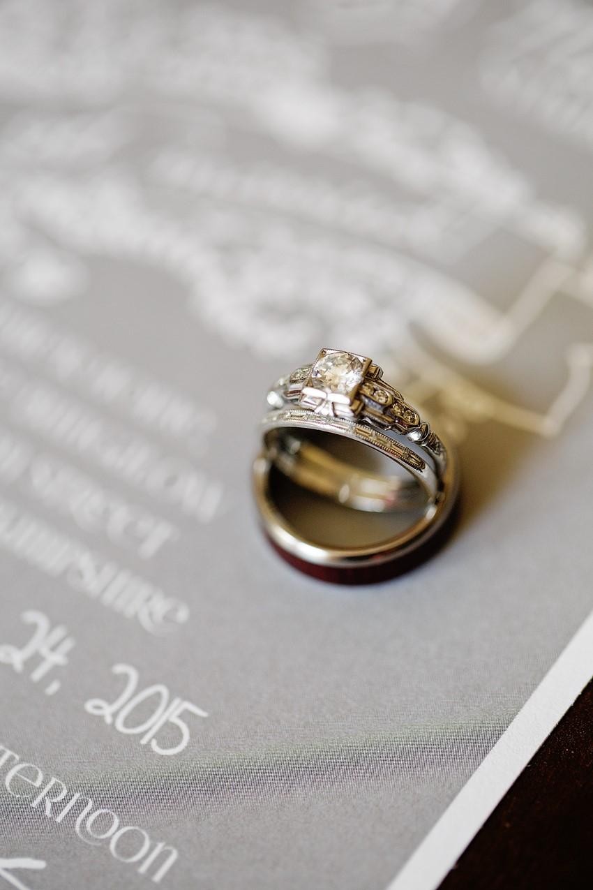 A Vintage Engagement Ring - A Vintage Garden Wedding