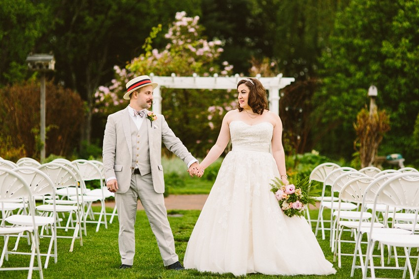 A Romantic Vintage Wedding With Pops of Pink from Zac Wolf Photography