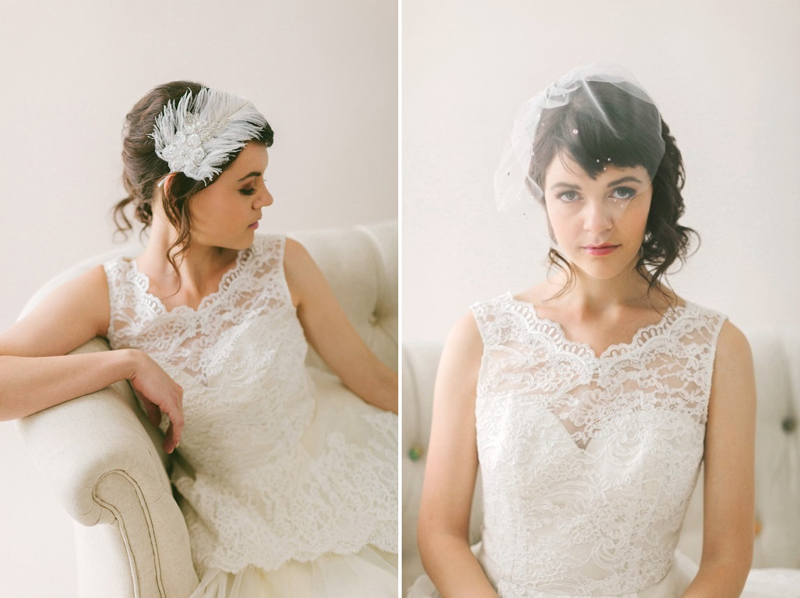 A Romantic Collection of Veils & Bridal Hair Accessories from January Rose Bridal