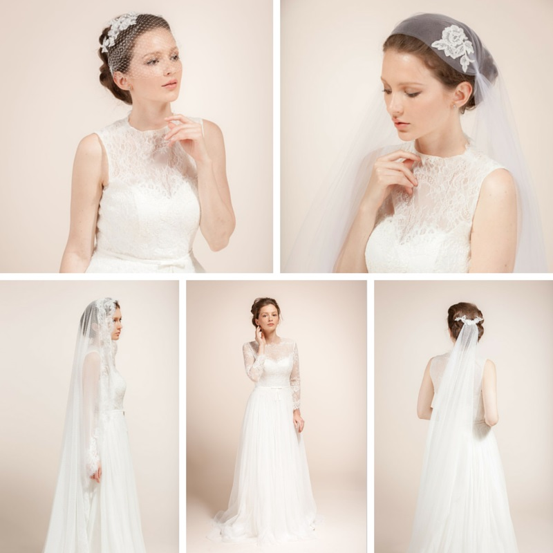 A New Collection of Elegant Bridal Hair Accessories & Veils from Wanlu Bridal