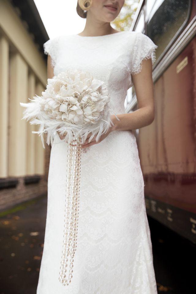 20 Beautiful Art Deco Bridal Bouquets Chic Vintage Brides