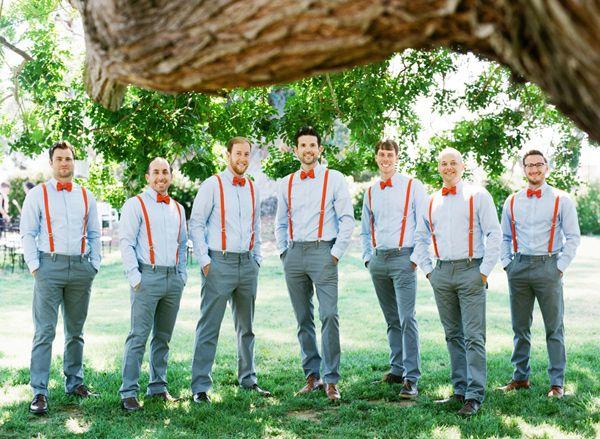 Groom & Groomsmen in Bow Ties & Braces