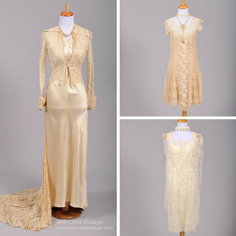 Beautiful Vintage Art Deco Wedding & Bridesmaid Dresses from Mill Crest Vintage
