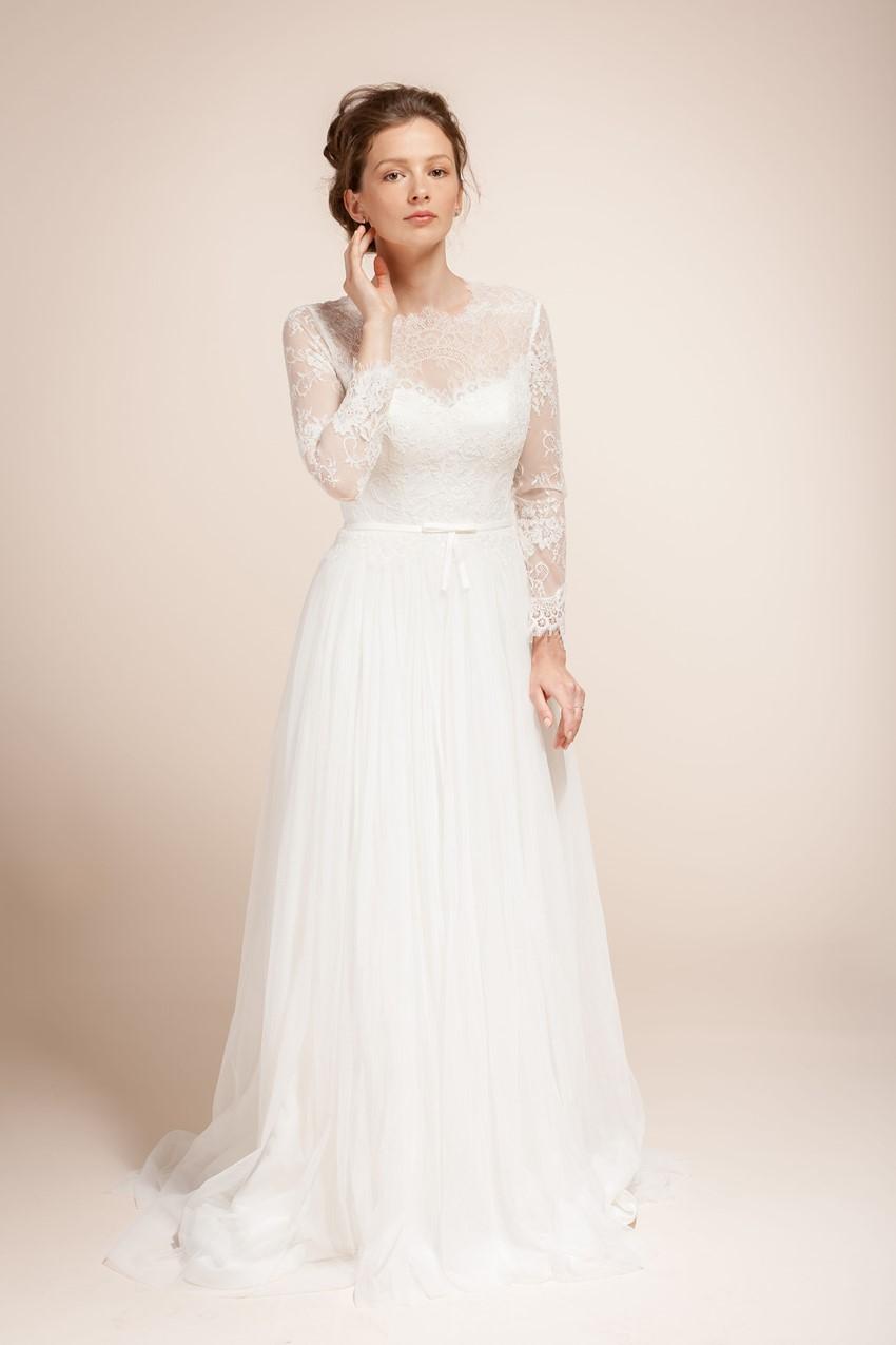 Long Sleeved Wedding Dress - Wanlu Bridal