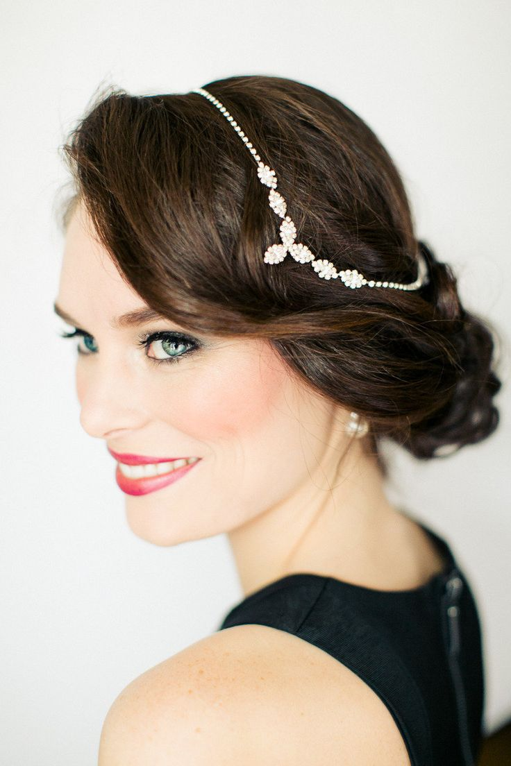 20 Elegant Art Deco Bridal Hair & Makeup Ideas : Chic Vintage Brides