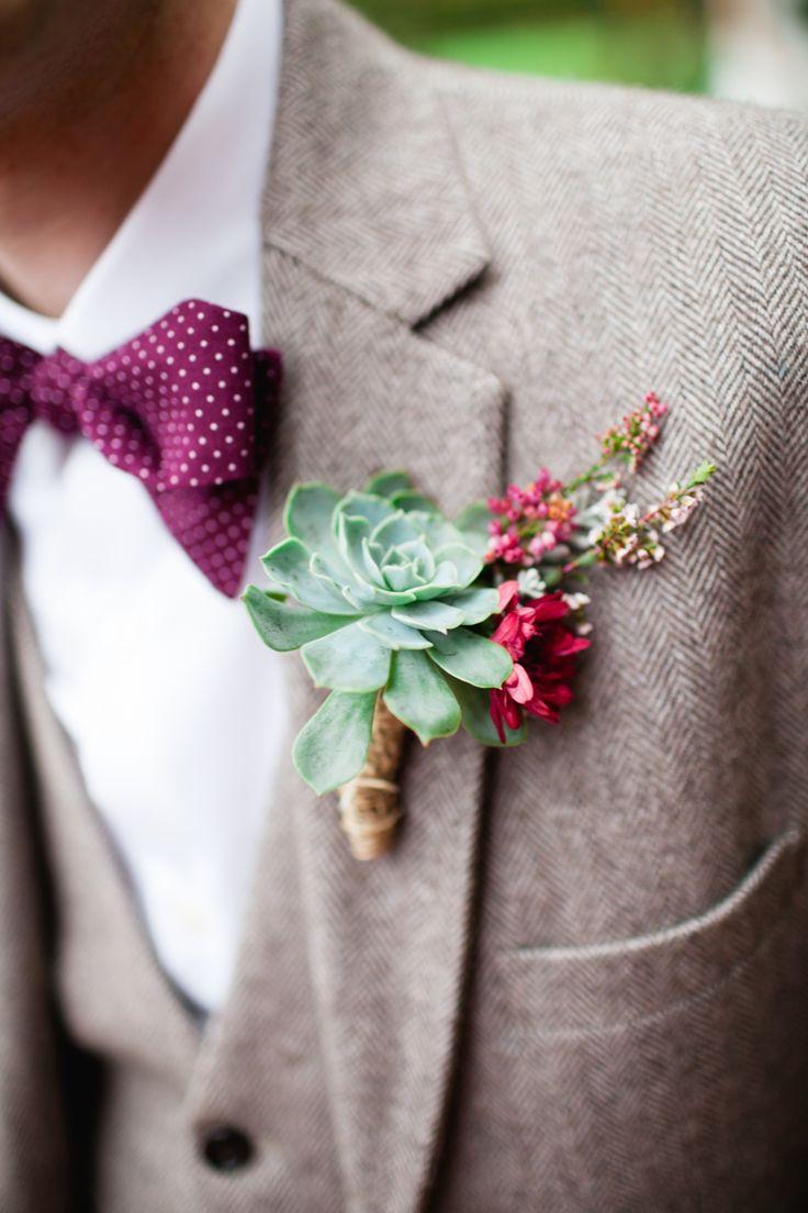Herringbone Tweed Suit for an Art Deco Groom