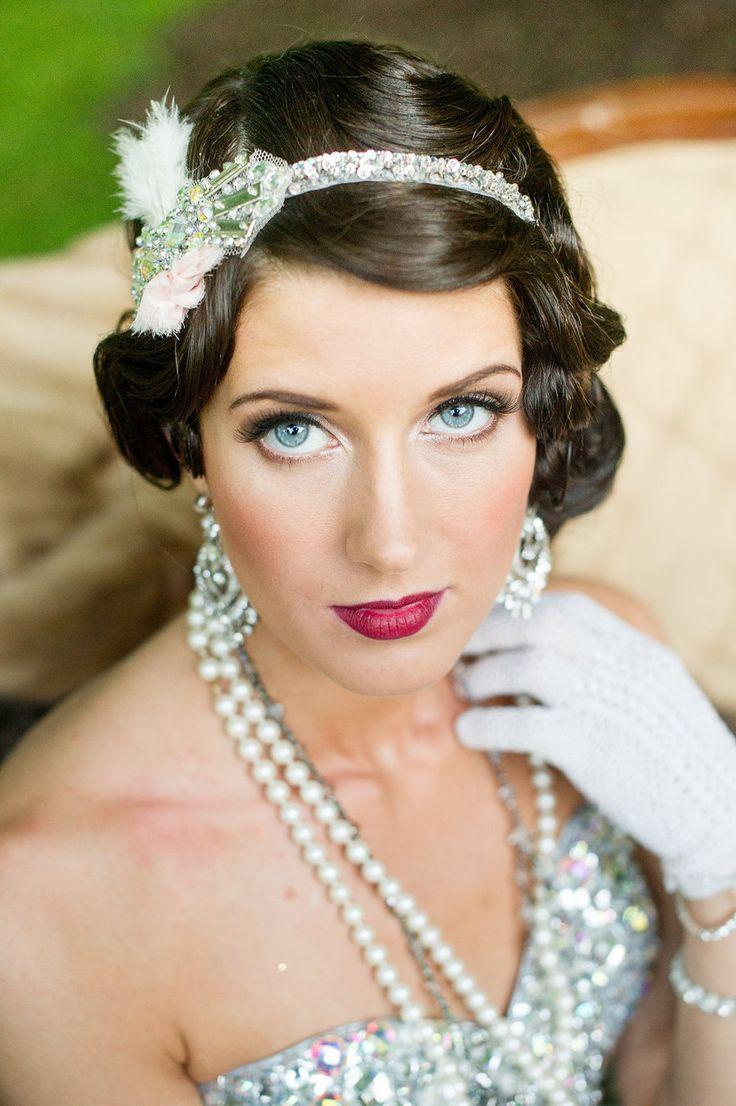 Amazing 20 Elegant Art Deco Bridal Hair Makeup Ideas Chic Vintage Brides Short Hairstyles Gunalazisus