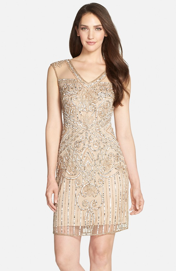 Art Deco Bridesmaid Dresses - Embellished Short Dress