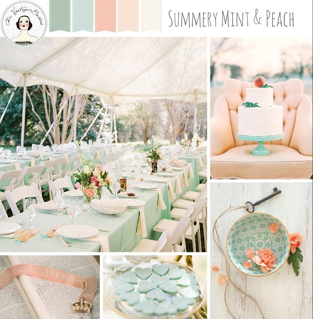 http://chicvintagebrides.com/wp-content/uploads/2015/08/Summery-Mint-Peach-Wedding-Inspiration-Board1-e1439345544992.jpg