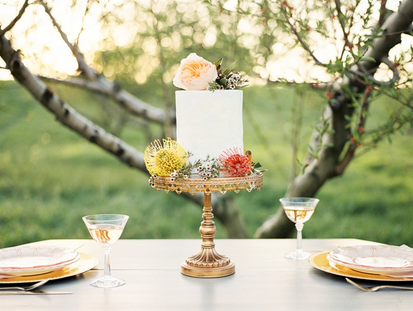Charming Spring Elopement Wedding Cake