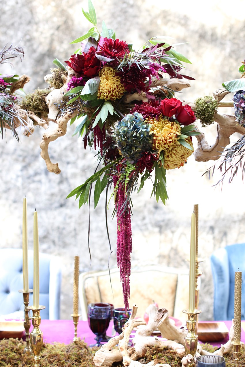 Centrepiece - Glamorous Wedding Inspiration with Opulent Fall Florals from Flora Fetish