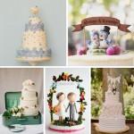 1950s Inspired Wedding Cakes