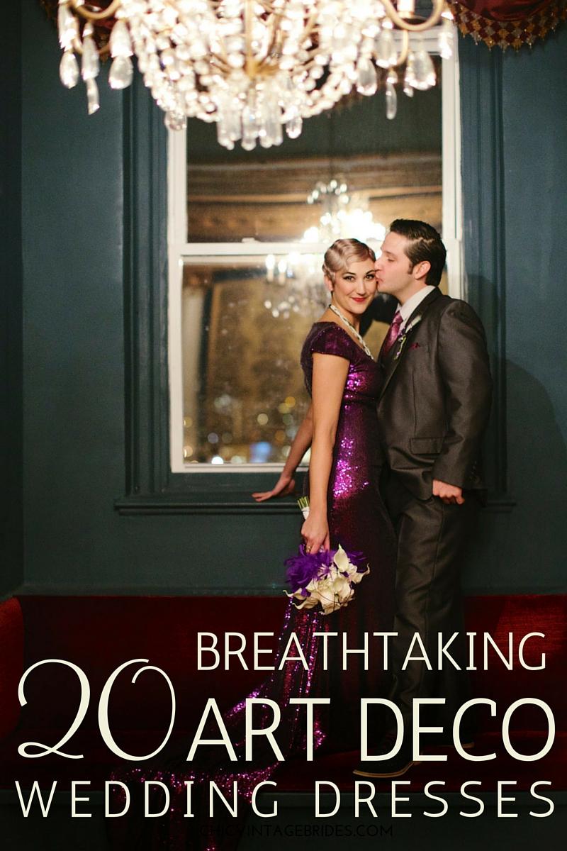 71d154dafa8 20 Art Deco Wedding Dress with Gatsby Glamour   Chic Vintage Brides