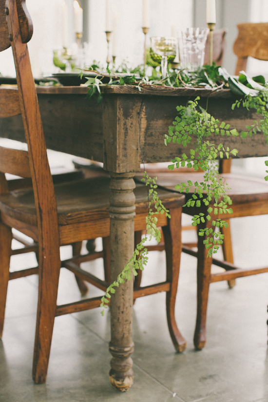 Vintage Green Wedding Centrepiece