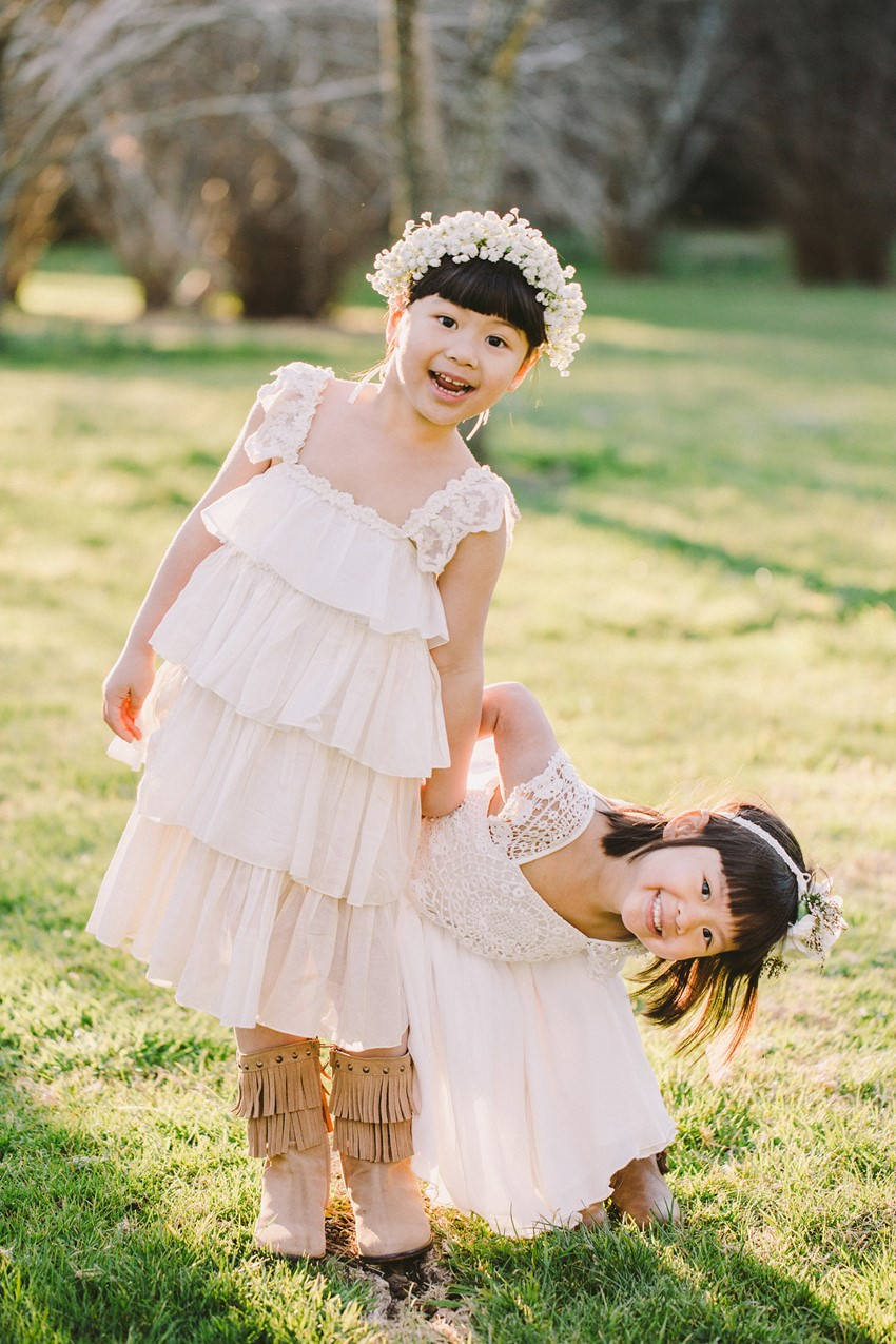 Flower Girls - A Rustic Vintage Wedding Inspiration Shoot at Montrose Berry Farm