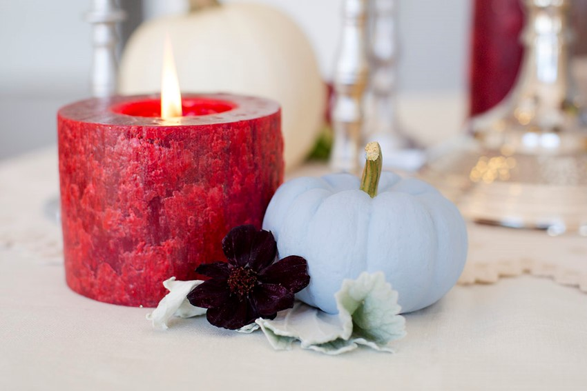 DIY Painted Pumpkins - the perfect Fall wedding centrepieces
