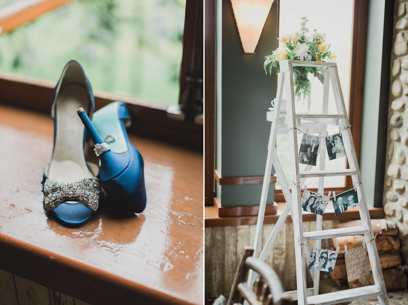 Blue Bridal Shoes - A Romantic & Intimate Wedding Full of Vintage Charm