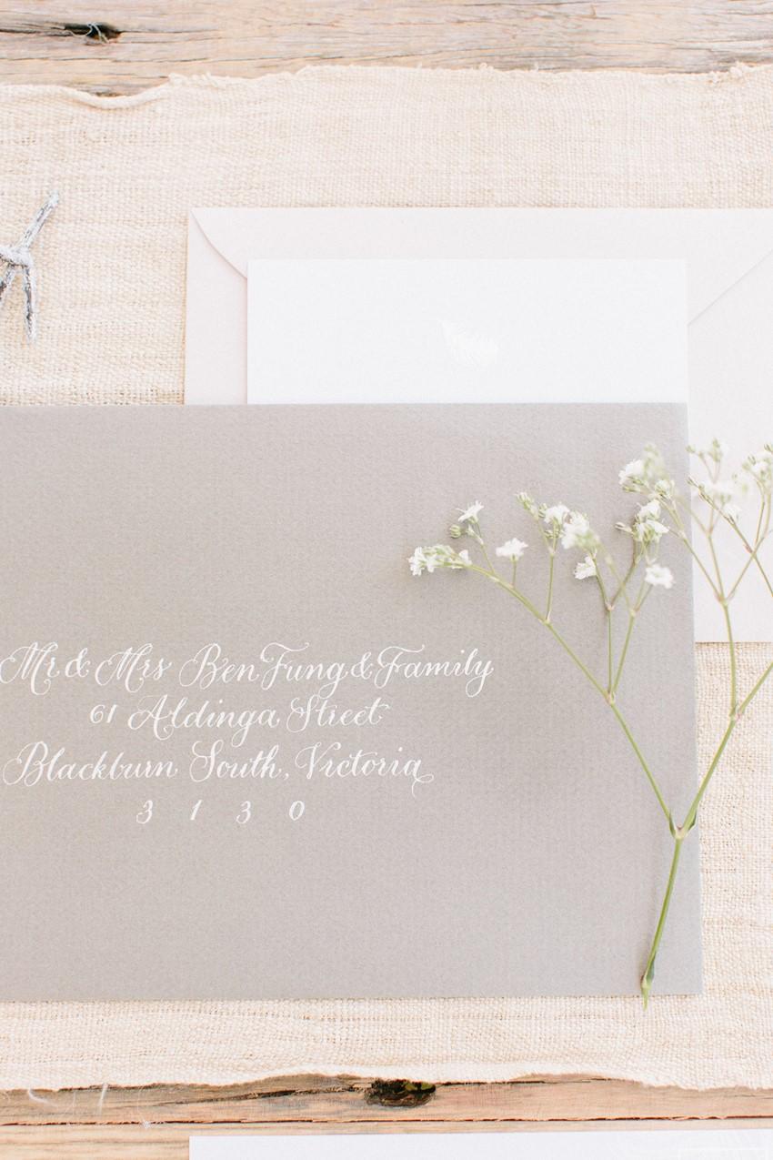 Elegant Wedding Stationery - A Rustic Vintage Wedding Inspiration Shoot at Montrose Berry Farm