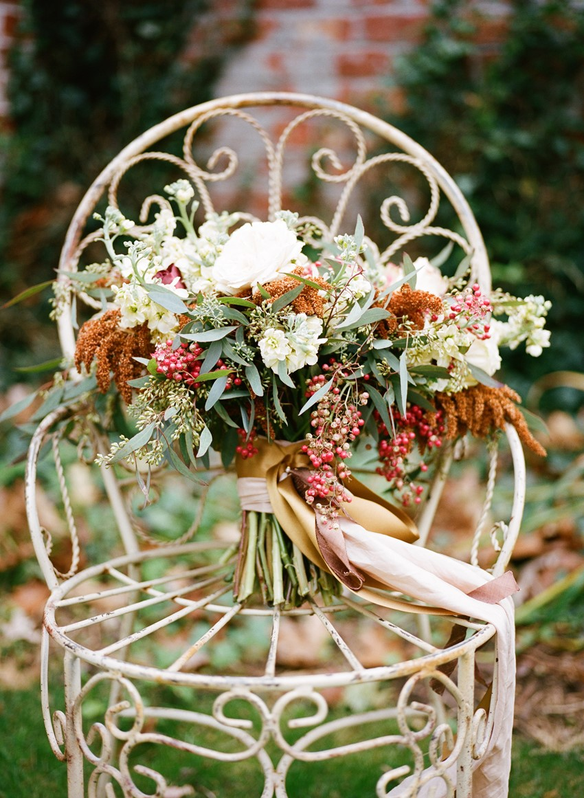 Breathtakingly Romantic Fall Wedding Inspiration Shoot at Twickenham House