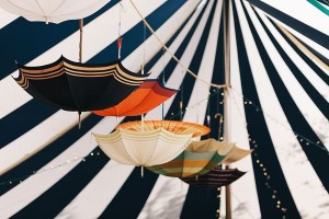 Eco Friendly Decor Ideas - Hanging Umbrellas