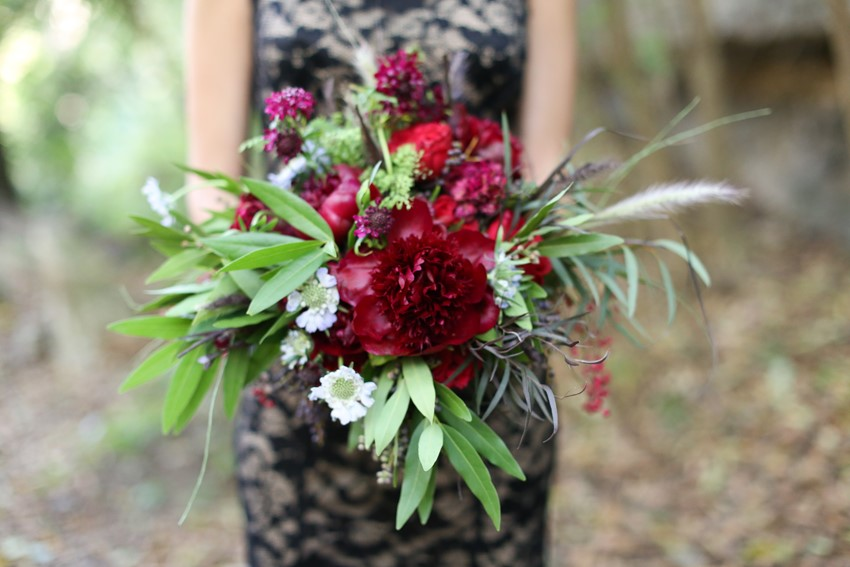Marsala Bouquet - Glamorous Wedding Inspiration with Opulent Fall Florals from Flora Fetish