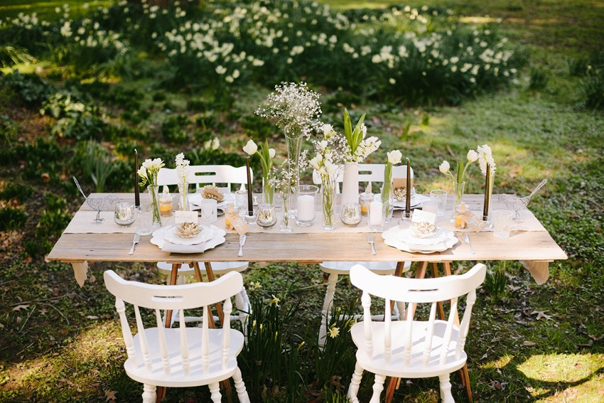 Elegant Rustic Wedding Tablescape - A Rustic Vintage Wedding Inspiration Shoot at Montrose Berry Farm