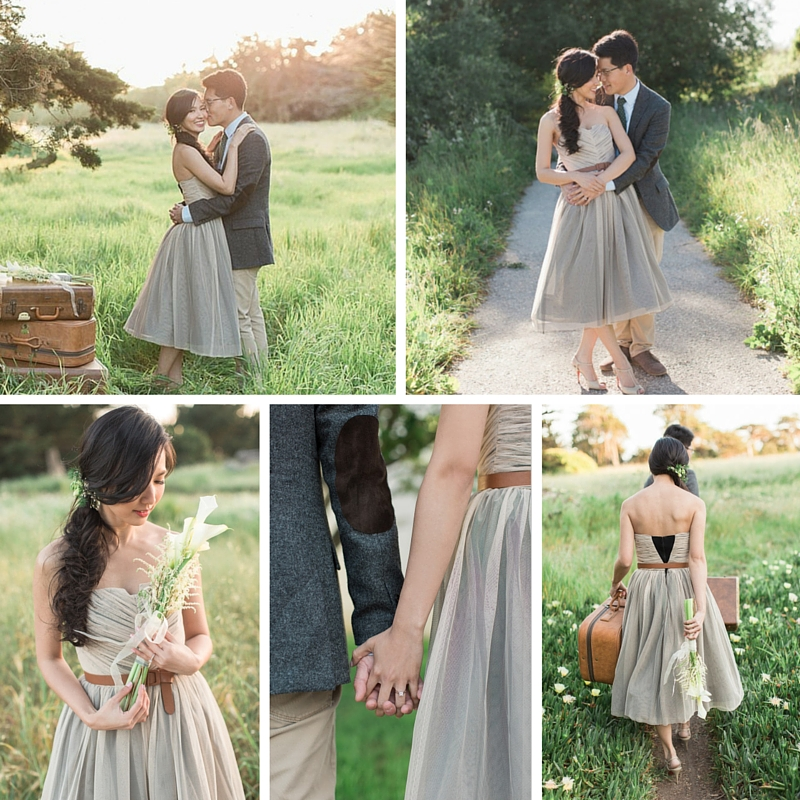 A Romantic Modern Vintage Engagement Shoot