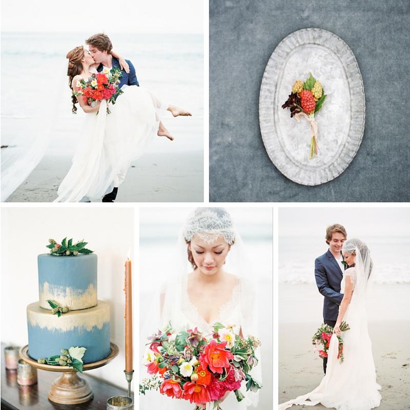 A Modern-Vintage Beach Wedding Inspiration Shoot Brimming with Romance