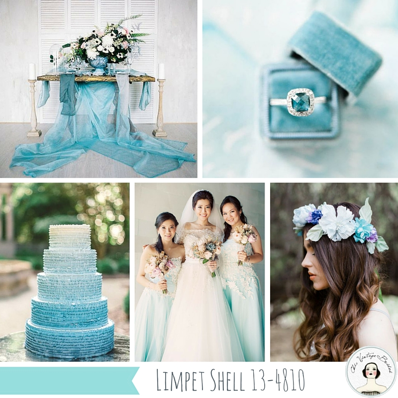Top 10 Spring Wedding Colours for 2016 from Pantone - Limpet Shell