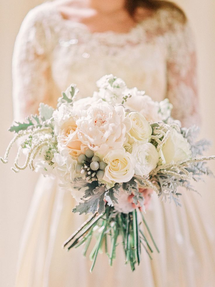 White Rose Bridal Bouquet - 20 Beautiful Bridal Bouquets for the 1950s Loving Bride