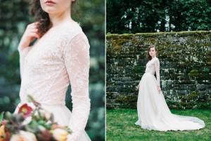 Long Sleeve Wedding Dress - Romantic Spring English Garden Wedding Inspiration