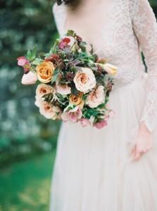 Modern Vintage Bridal Bouquet - Romantic Spring English Garden Wedding Inspiration